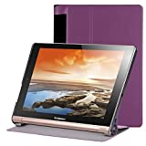 Für Lenovo Yoga Tab3 Plus 10.1 Hülle Case - Slim Fit Folio Schutzhülle Smart Cover mit Auto Sleep / Wake für Lenovo Yoga Tab 3 Plus 10.1 Zoll YT-X703F / YT-X703L (nicht für Yoga Tab 3 10.1) (Lila)