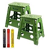 2 Stück Set Lantelme Klapphocker bis 120 kg belastbar . Hocker aus Kunststoff für Haushalt , Garten und Camping