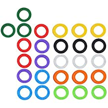 Pinzhi 32Piezas De Caramelo Color Hueco Tapa De Silicona Cubre Topper Clave Titular Del Círculo
