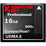 Komputerbay 16Go Professional CARTE COMPACT FLASH 600X 90 Mo/s CF Extreme Speed UDMA 6 RAW 16Go