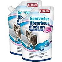 Beaphar Absorbedor de olores en cristales para aroma de orquídea del Arena de gato–400g–Lote de 2