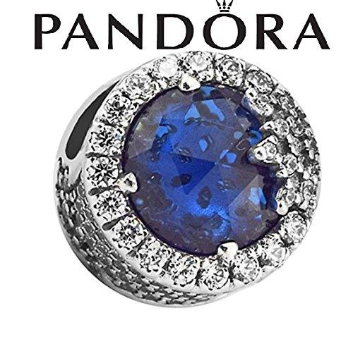 Azul deslumbrante copo de nieve Bead plata 925DIY encaja para Original Pandora pulseras encanto moda joyería