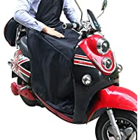 KINDAX Cubre Piernas para Moto Universal Manta para Scooter Impermeable Oxford - Color Negro