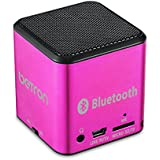 Betron MC500 Mini Bluetooth Speaker - Portable Rechargeable Travel Wireless Pink - For iPhone iPad iPod Samsung