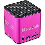 Betron - Mini Haut-Parleur Bluetooth Mc500 - Portable, Rechargeable, De Voyage, Sans Fil - Pour Iphone, Ipad, Ipod, Samsung (Rose)