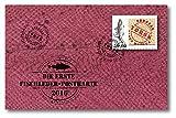 Fischleder-Briefmarke | Ersttagsbrief | exklusive & limitierte Fischleder-Postkarte | Handarbeit aus Deutschland | weltweit nur 199 Exemplare | Ersttagsstempel | Briefmarke