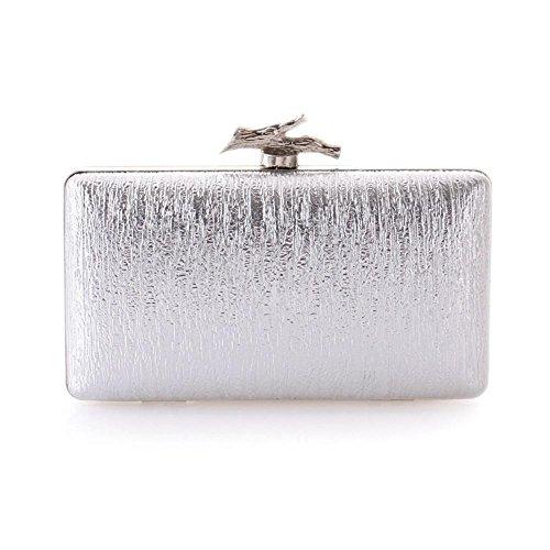 WZW Sacchetto di spalla della borsa della frizione della busta . black silver