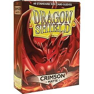 Arcane Tinmen ApS ART11221 Sleeves: Dragon Shield Matte Crimson (Red) (60) Card Game, One Size