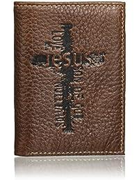 Christian Art Gifts - Cartera de Piel auténtica para Hombre | Cartera de Piel clásica de Calidad | Regalos Cristianos para Hombres