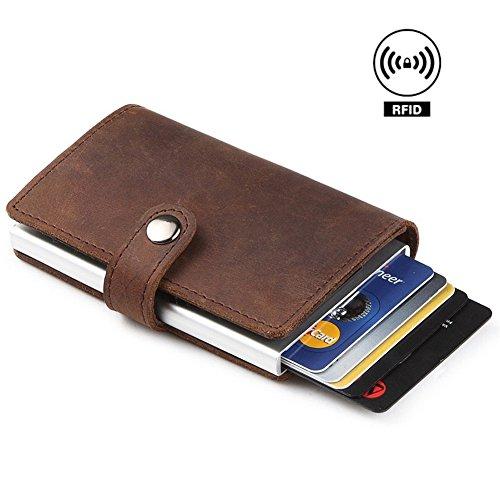 Leather Slimfold Wallet - promissed rain-10 by VIDA VIDA uGfQsbwTHr