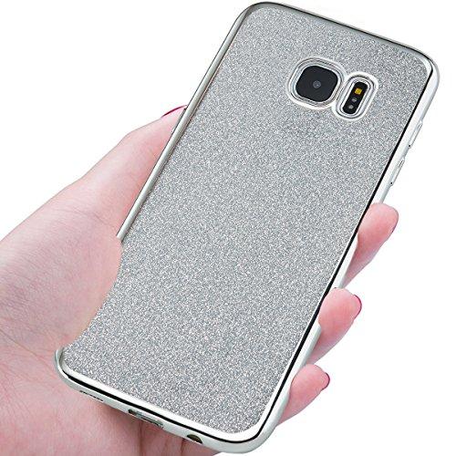 NWNK13® Coque arrière de protection souple en gomme / TPU Ultra mince Flexible Avec paillettes Pour Samsung Galaxy S5