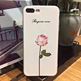 Ting Ting Luxury 3D Relief Leaf Cartoon Case Cute Plants Leaves Flower Back Cover Phone Case For Iphone 7 - Pink