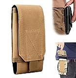 Riñonera para cinturón Efanr, táctica, militar, con bolsillos con cremallera y funda, para iPhone 7, 6S Plus, S7, Samsung Galaxy S6, S6, LG, HTC y más