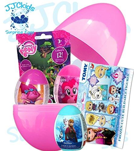 JJCkids Mädchen überraschen Ei mit Blind Bag Toys & überraschen Eier Disney Frozen & My Little Pony, groß