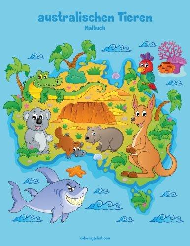 Malbuch mit australischen Tieren 1