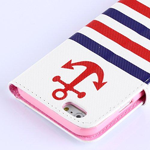 """MOONCASE iPhone 6 Plus Case Coque en Cuir Portefeuille Housse de Protection Étui à rabat Case pour iPhone 6 Plus (5.5"""") 13"""