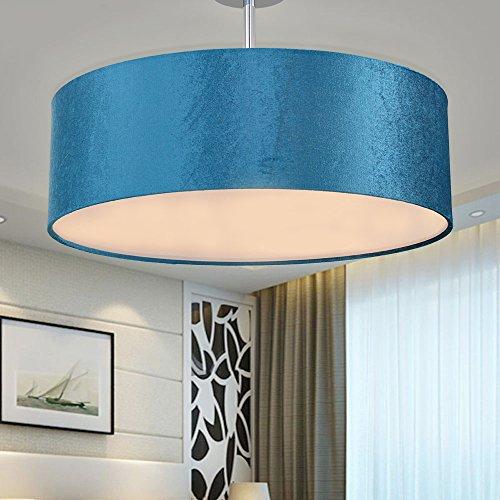 sparksor leuchten stoff trommel deckenleuchte in chrom matt stoffschirm pendelleuchte f r. Black Bedroom Furniture Sets. Home Design Ideas
