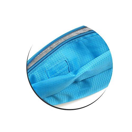 Sistema de S Funda 3compartimentos bolsa de deporte Cinturón Correa De Pecho Cinturón Riñonera con reflector para smartphone y otros objetos en azul