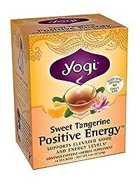 Yogi Sweet Tangerine Positive Energy, 1.02 Ounce (Pack of 6)