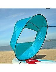 Vela para Kayak, Kayak Vela Paddle 42 Pulgadas Accesorios de Kayak Canoa Compacto y Portátil ( Color : Azul )
