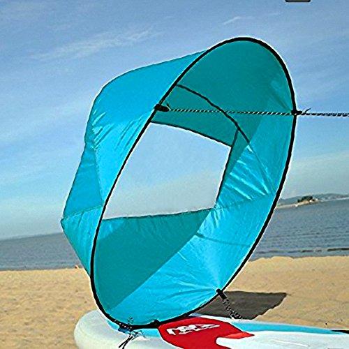 42 Zoll Kajak Windsegel Wind Paddel Downwind Kajaksegel Kanu Zubehör Kompakt&Tragbar ( Farbe : Blau )