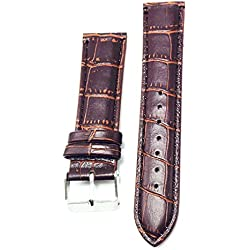 OUMOSI Bamboo Pattern Leather Watchband Replacement Watch Strap For Men Women 18 20 22 24mm