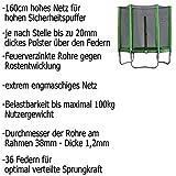 Terena Gartentrampolin 183 mit Sicherheitsnetz – neongrün - 3
