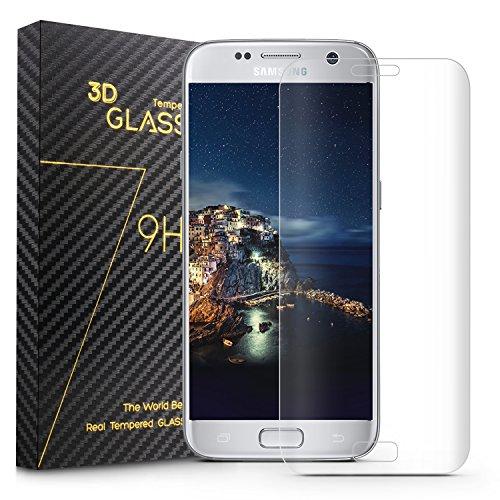 COSKIP Samsung Galaxy S7 edge Pellicola Protettiva ,3D Copertura Completa ,Screen Protector in Vetro Temperato per Samsung Galaxy S7 edge,Trasparente
