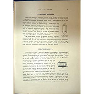 Antiker Druck der PferdeSchuh-DauermagnetElektromagnet-Einzelnen Schleife Solenoid1908