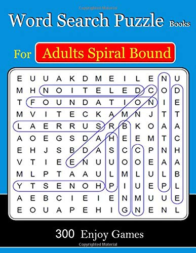 Word Search Puzzle Books For Adults Spiral Bound: 300  Puzzles Games