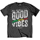 Rockoff Trade Bob Marley Good Vibes T-Shirt, Grau (Charcoal Charcoal), XL Uomo
