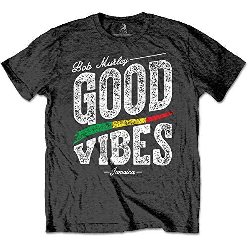 Edredon Bob Marley.Rockoff Trade Men S Bob Marley Good Vibes T Shirt Grey Charcoal Grey Grey X Large