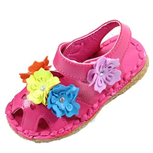 Ohmais Enfants Filles Chaussure cérémonie Ballerines à bride Fête Demoiselle d'honneur Mariage Escarpin à petit talon Rose