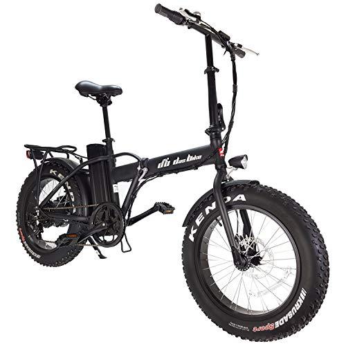 """DAS.BIKE Elektro Fat Bike 20\"""" Ebike Klapprad Pedelec 7-Gang Shimanoschaltung mit dicken Rädern Mattschwarz"""