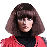 Tangda Damen Perücken Frauen Wavy Wigs Bob Synthetische Lockige Perücken