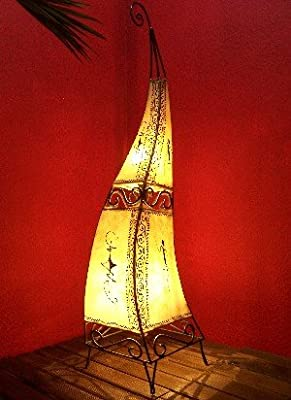 Marokkanische Lederlampe Marrakesch Natur 100cm