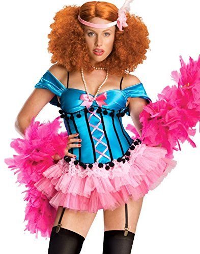 Rubies Burlesque ShowGirl Doll Tutu Costume M (Burlesque Doll)