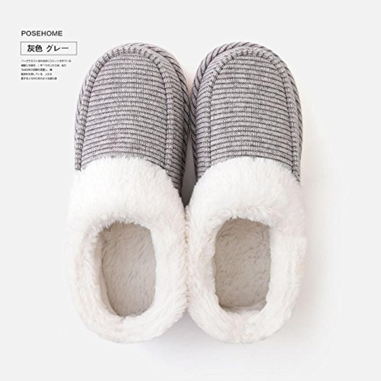 Casa fankou par zapatillas de algodón interior femenina Baotou home engrosamiento antideslizante zapatillas impermeables...