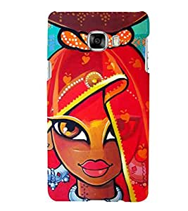 Village Girl Painting Hard Polycarbonate Designer Back Case Cover for Samsung Galaxy C5 :: Samsung Galaxy C5 SM C5000