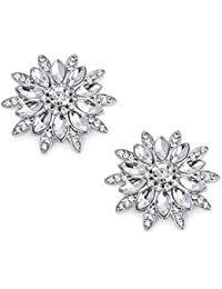 ElegantPark AS Women's Sunshine Design Wedding Party Prom Decoration Crystals Clutchs Dress Hat Shoe Clips 2 Pcs