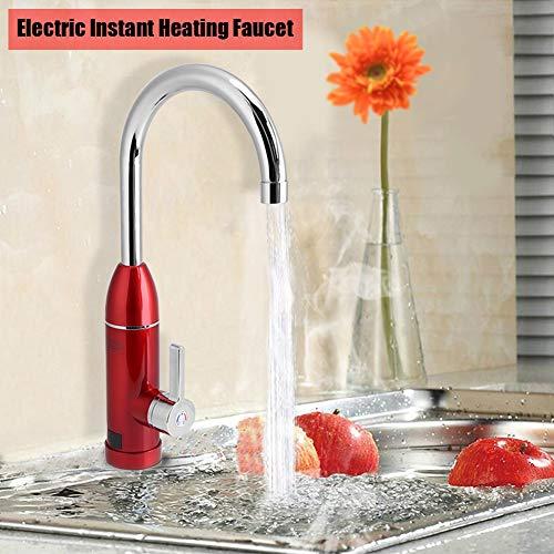 Küche Wasser Wasserhahn, 220V Elektrische Heizung Wasserhahn Armatur 360° Rotary Hot & Cold Mischbatterie Küche Spüle Wasser sofort Heizung -
