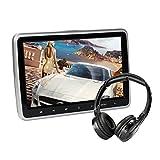 10.1 Zoll Auto DVD Spieler TFT LCD Bildschirm Kopfstütze Video Monitor, tragbare Auto TV für Kinder mit IR-Kopfhörer Fernbedienung USB SD HDMI (CL101DVD + H)