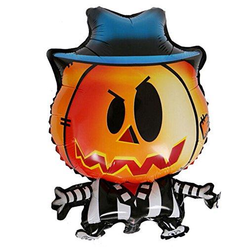 Outgeek Kürbis Mann Form Halloween Folie Mylar Ballon für Halloween Cosplay, Kostüm Party, Bar Dekoration
