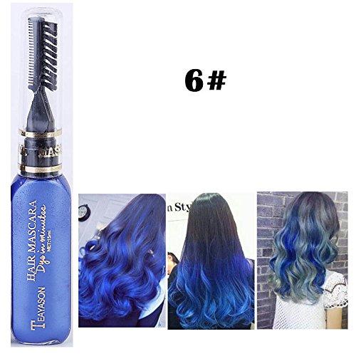 DIY Langlebige Temporäre Schimmer Haar Farben Creme mit Kämme Haare Färben Kreide Haartönungen Dunkel Blau