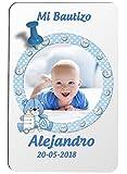 Iman personalizado para detalle de Bautizo niño. Pack de 6 unidades