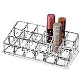 scfl acrílico maquillaje y pintalabios organizador soporte para cepillo belleza contenedor 18espacio almacenamiento 6.81Pulgadas x 3.58pulgadas x 1,97pulgadas