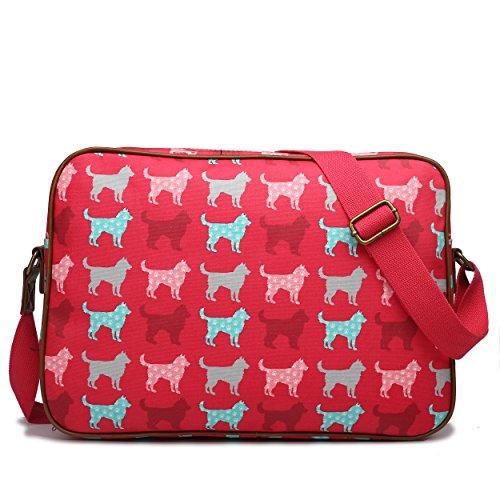 Miss Lulu , Damen Umhängetasche Einheitsgröße Dog Pink