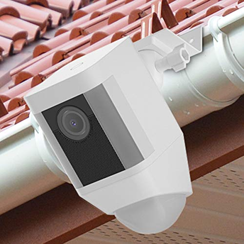 BECROWMEU Wetterfeste Dachrinnen-Halterung für Ringscheinwerfer, Kamera-Akku, größere Höhe, Bester Betrachtungswinkel für Ihre Ringüberwachungskamera -