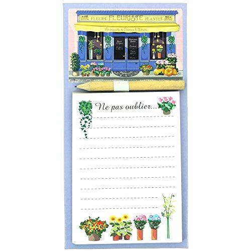 Promobo -Mémo Magnet Bloc Notes Boutique Vintage Magasin de Fleur Fleuriste Rétro
