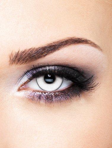 Edit farbige Manson Kontaktlinsen Weiß ohne Stärke für Halloween und (Schwarz Für Halloween Kontakte)